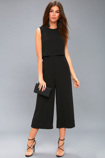 Glam-bition Black Backless Midi Jumpsuit - Lulus