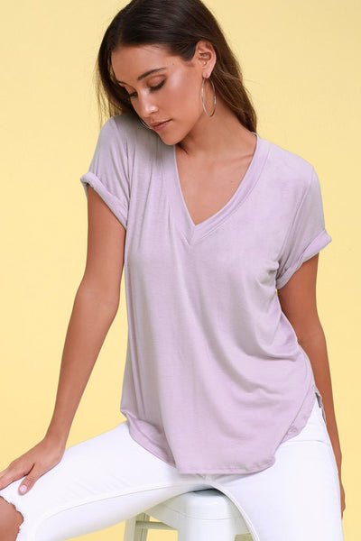 Tee for You Lavender Tee - Lulus