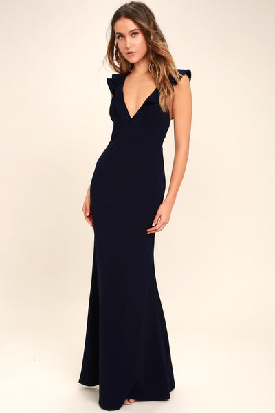 Perfect Opportunity Navy Blue Maxi Dress - Lulus