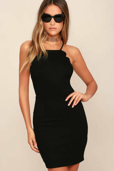 Heart's Content Black Bodycon Dress - Lulus