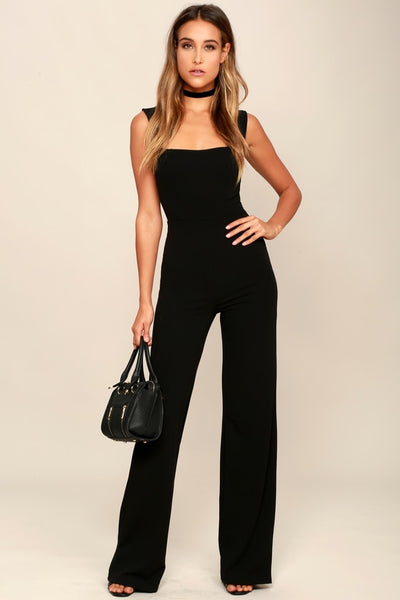 Enticing Endeavors Black Jumpsuit - Lulus