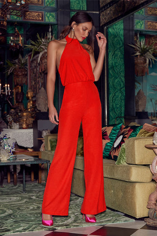 Moment for Life Red Halter Jumpsuit - Lulus