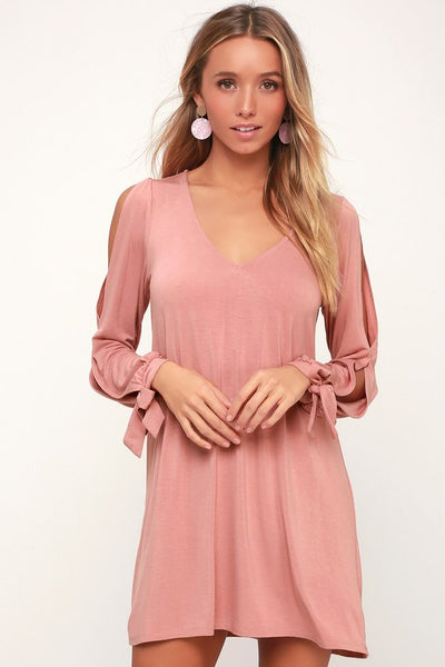 Glory of Love Mauve Shift Dress - Lulus