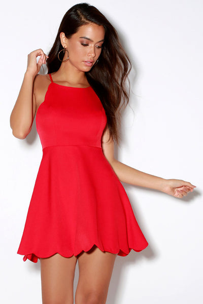Play On Curves Red Backless Dress - Lulus