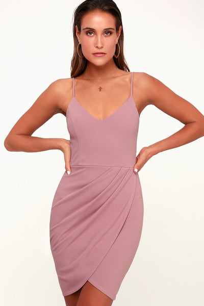 Forever Your Girl Mauve Pink Bodycon Dress - Lulus