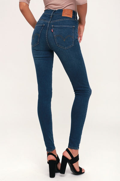 Mile High Super Skinny Dark Blue Jeans - Lulus