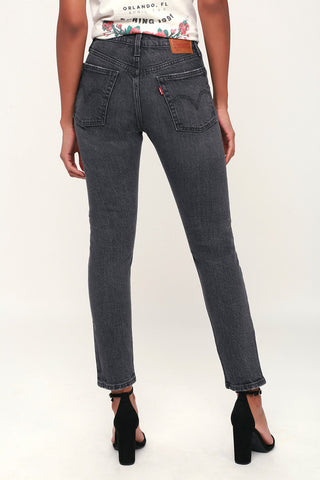 501 Skinny Washed Black High Rise Jeans - Lulus