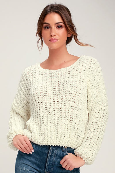 Crush On You Cream Chunky Knit Sweater - Lulus
