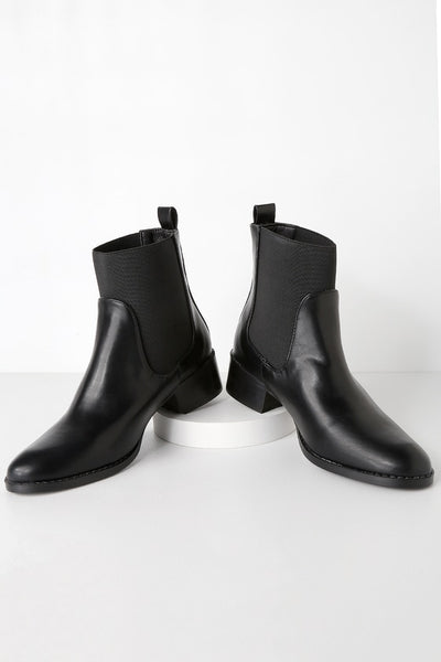 Etienne Black Chelsea Sock Booties - Lulus