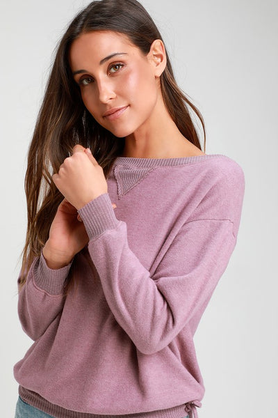 Elsa Dusty Lavender Long Sleeve Sweater Top - Lulus