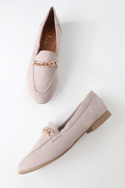 Molly Lynn 2 Taupe Suede Loafer Flats - Lulus
