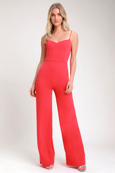 Tilia Hot Pink Wide-Leg Jumpsuit - Lulus