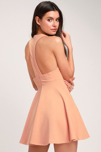 Lawson Peach Skater Dress - Lulus