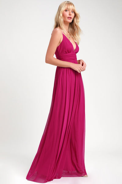 Queen of the Evening Magenta Maxi Dress - Lulus
