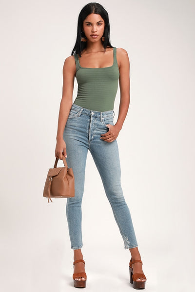 Nico High Rise Light Wash Skinny Jeans - Lulus