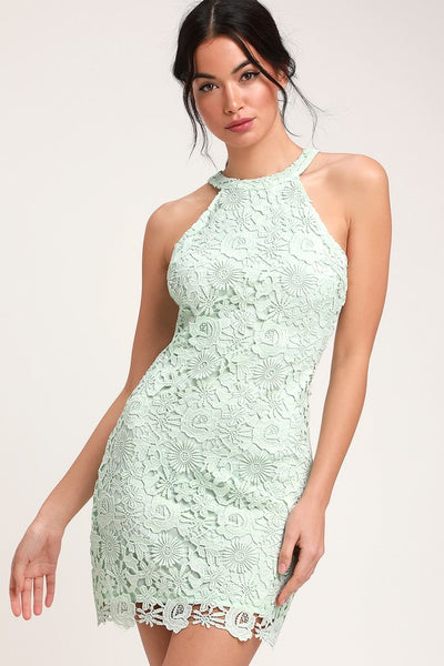 Love Poem Mint Green Lace Dress - Lulus