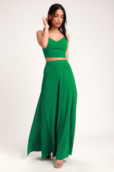 Out Tonight Green Two-Piece Jumpsuit - Lulus