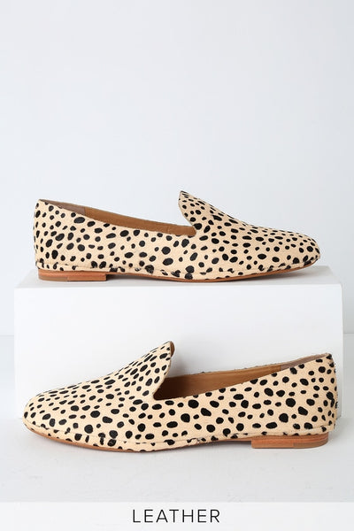 Wynter Leopard Calf Hair Loafers - Lulus