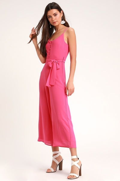 Sammy Sue Pink Wide-Leg Jumpsuit - Lulus