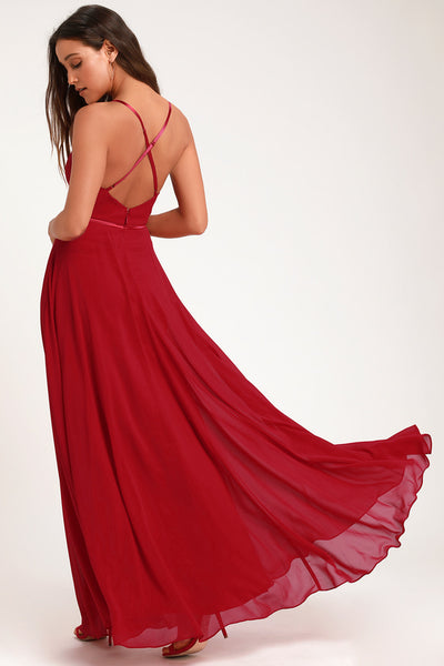 Grand Soiree Red Sleeveless Maxi Dress - Lulus