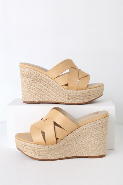 Eden Natural Espadrille Wedges - Lulus