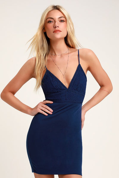 Late Night Snack Royal Blue Lace Backless Bodycon Dress - Lulus