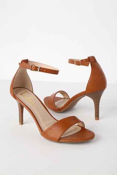 Lover Tan Stacked Ankle Strap Heels - Lulus