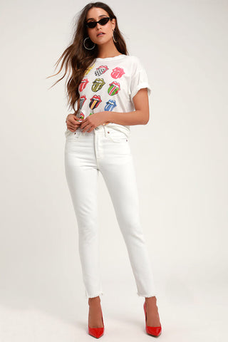 501 Skinny White High Rise Jeans - Lulus