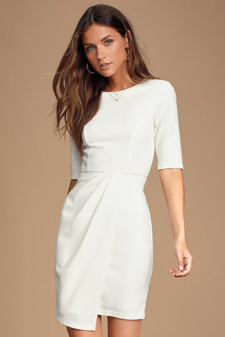 Westwood White Half Sleeve Sheath Dress - Lulus