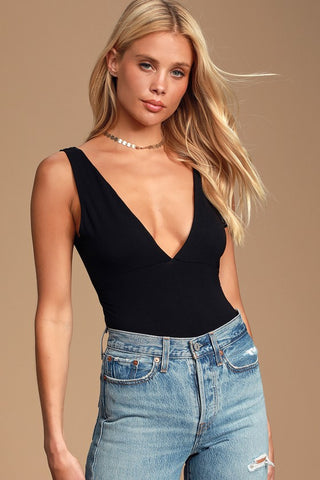 Montebello Black Sleeveless Bodysuit - Lulus