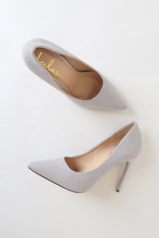 Verra Grey Suede Pumps - Lulus