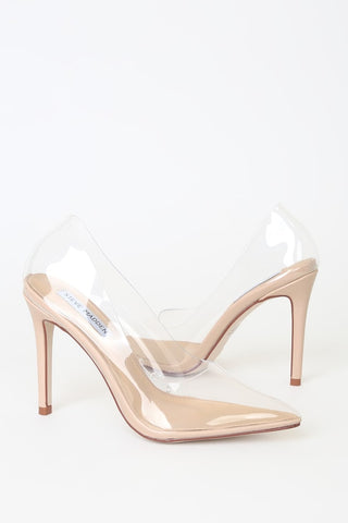 Vegas Clear Pointed-Toe Pumps - Lulus