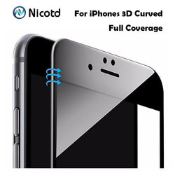 72hàPrixCoûtant Film de protection iphone Protection 3D verre trempé Carbon Fibre Glossy Curved pour iPhone 6 Film 6S Plus iPhone 7