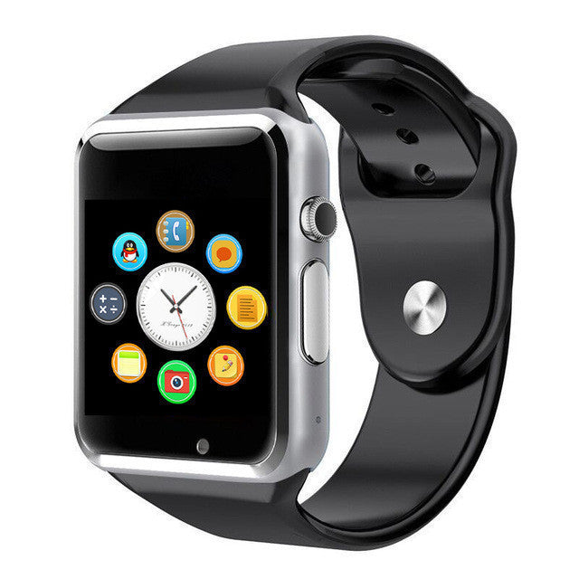 72hàPrixCoûtant montre connecté Black Smart Watch A1 Clock Sync SIM Card Connectivité Apple iphone Téléphone Android