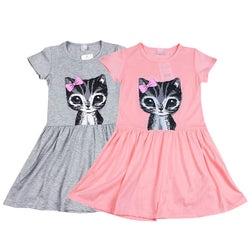 Robe chat fille Baby Girl Princess Casual trendy - €4.99 | 72 h Prix Coûtant robe chat, robe fille