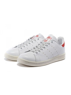 Adidas Originals Stan Smith couleur blanc / rouge - 72h PrixCoûtant