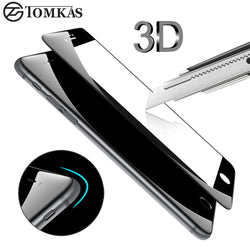 3D Round Curved Edge Tempered Glass For iPhone 6 6s 7 Plus Full Cover Protective Premium Screen Protector Film Safety Case - €4.99 | 72 h Prix Coûtant film de protection iphone