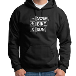 Sweat shirt homme capuche motif Triathlon