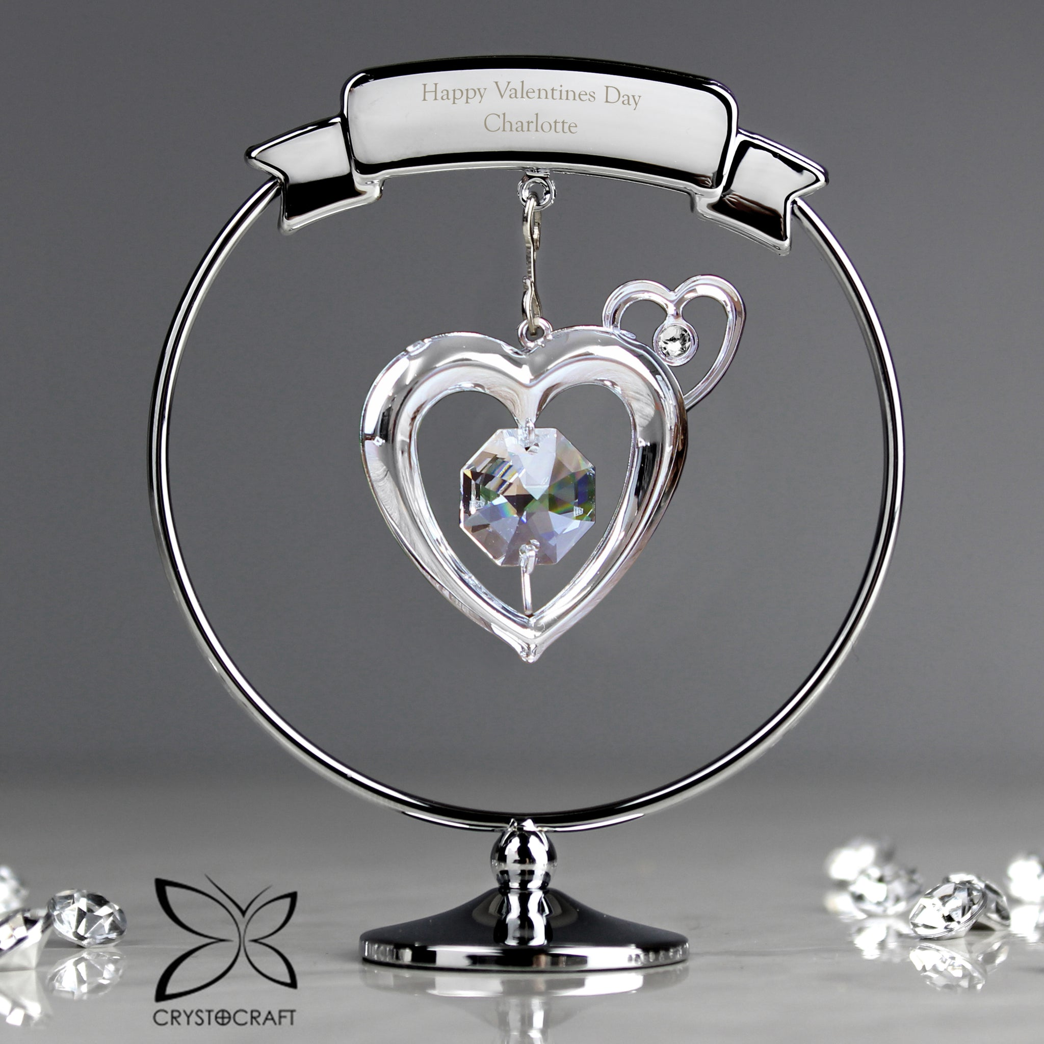 Buy Personalised Crystocraft Heart Ornament £14.99 at Gift Moments