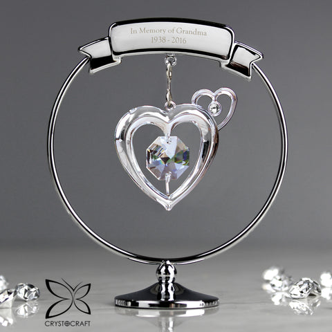 Buy Personalised Crystocraft Heart Ornament £15.99 at Gift Moments
