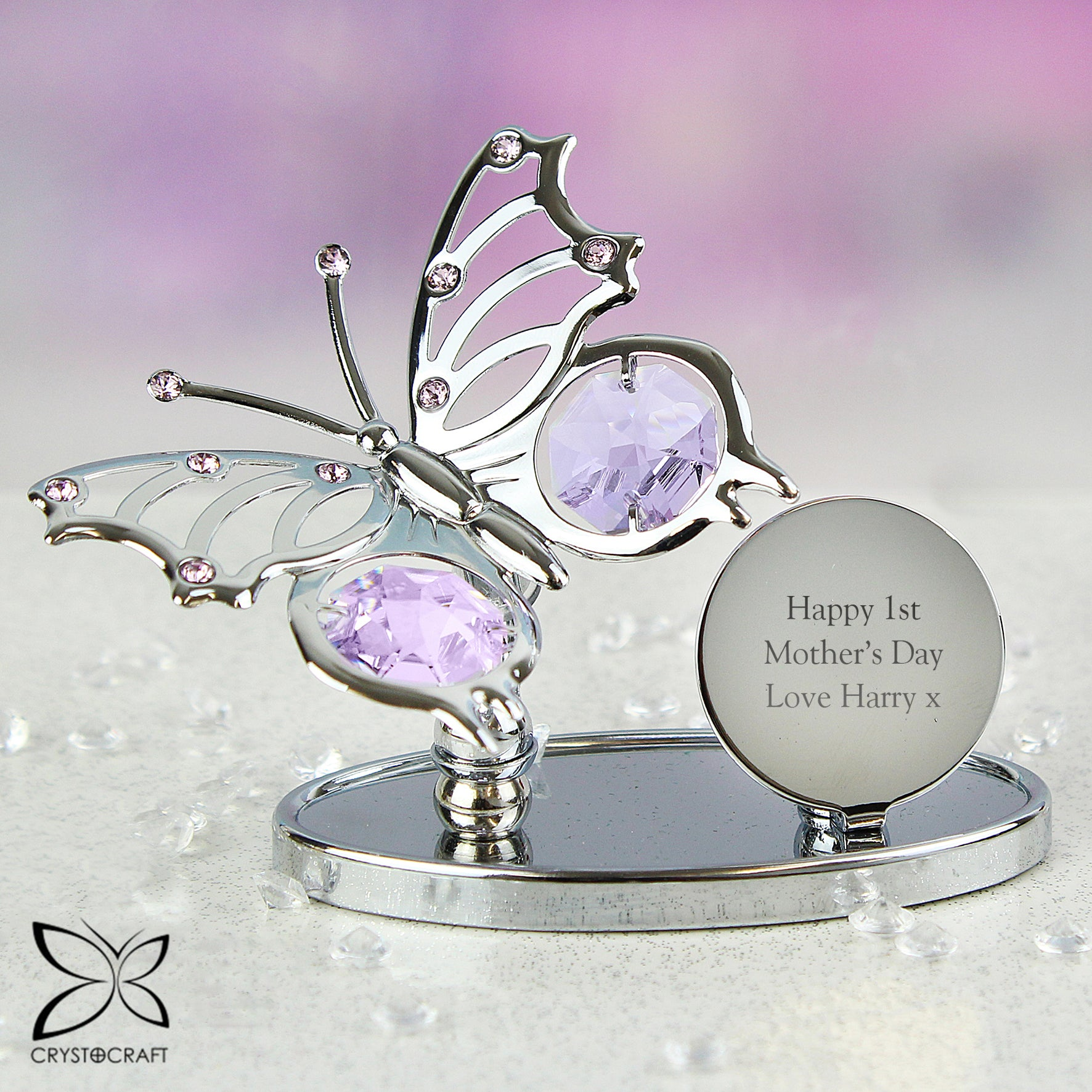 Buy Personalised Crystocraft Butterfly Ornament £14.99 at Gift Moments