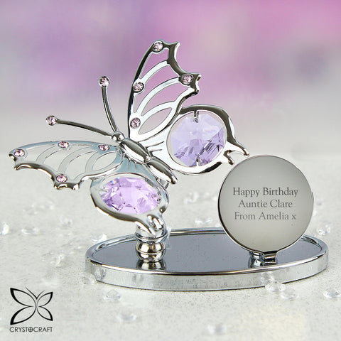 Buy Personalised Crystocraft Butterfly Ornament £15.99 at Gift Moments