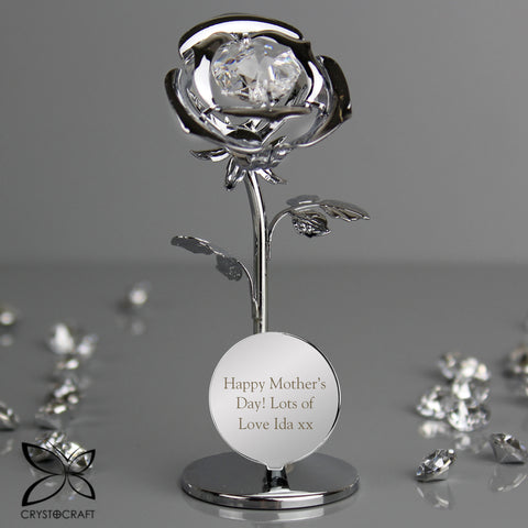 Buy Personalised Crystocraft Rose Ornament £15.99 at Gift Moments