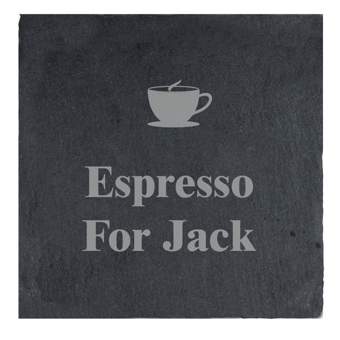 Buy Personalised Hot Drink Motif Slate Drinks Coaster £6.99 at Gift Moments
