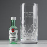 Buy Personalised Crystal Glass & Bacardi Set £21.99 at Gift Moments