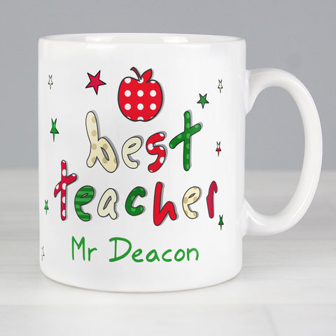 Buy Personalised Best Teacher Mug £9.99 at Gift Moments