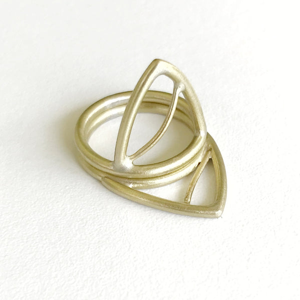Reflection Stacking Rings (Pair)