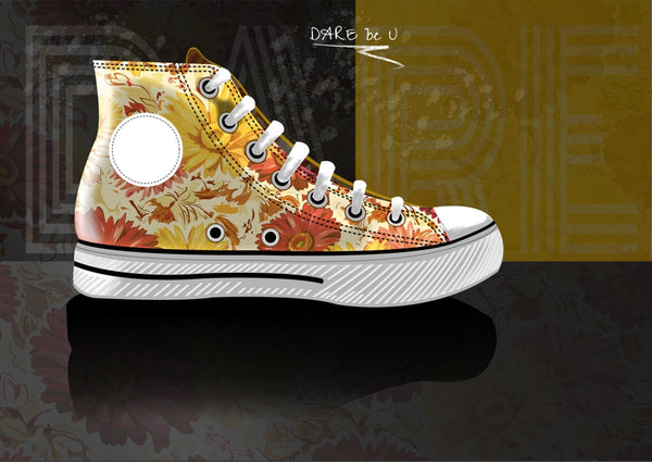 Custom Spring Canvas Shoe Design