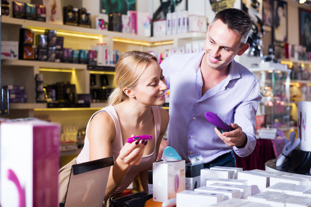 Adult Couple Choosing Sex Toys for the First time