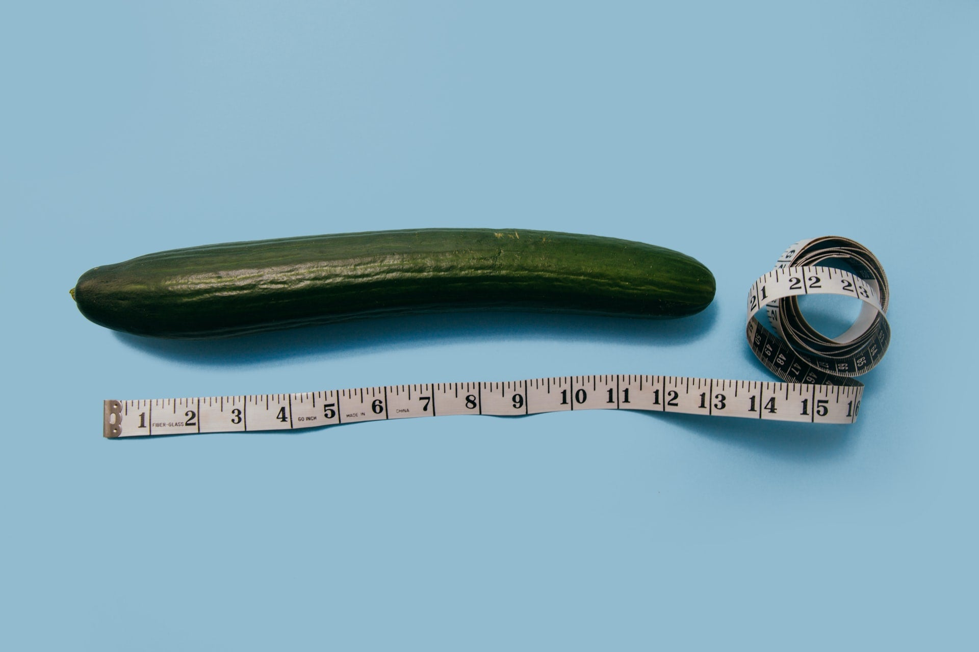 a vegetable and a tape measure